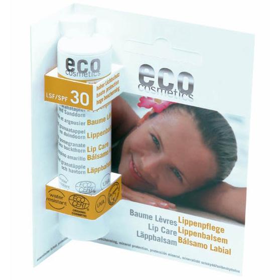 Eco Cosmetics Balsam De Buze Bio Cu Protectie Solara Inalta Fps 30