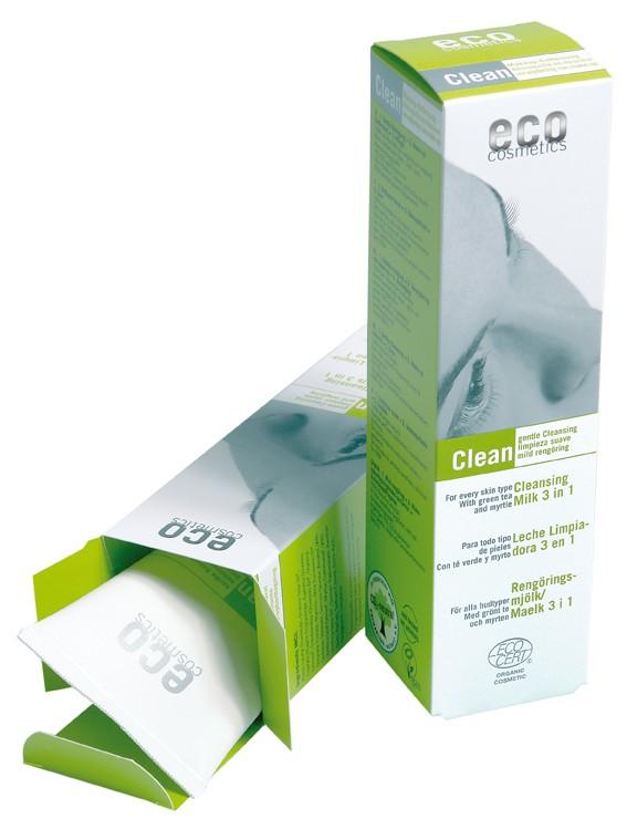 Eco Cosmetics Demachiant Bio 3 In 1 Cu Ceai Verde  Pentru Toate Tipurile De Ten