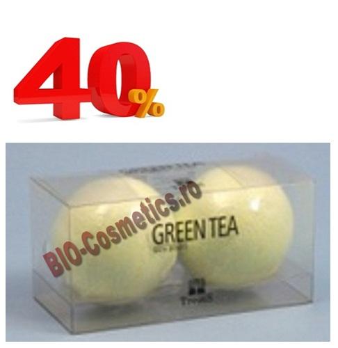 Promo Treets Set 2 Bile Efervescente De Baie Cu Ceai Verde
