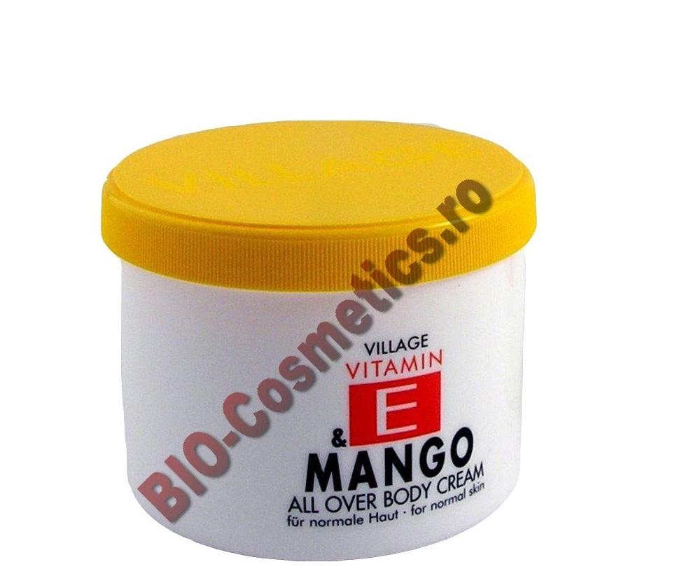 VILLAGE Crema de corp cu Vitamina E si Mango 500 ml