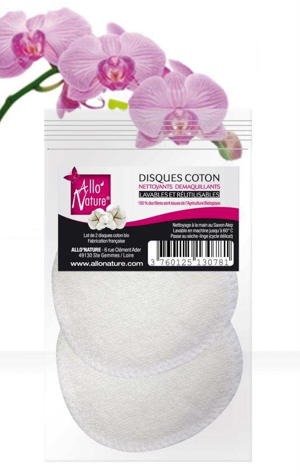 Allonature Dischete Demachiante Din Bumbac Organic