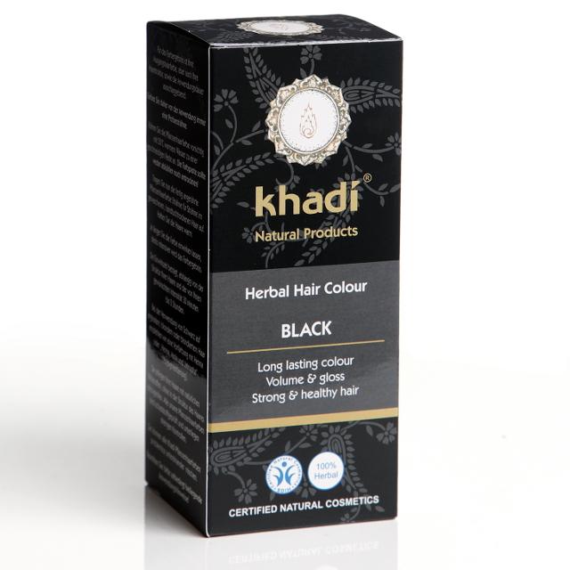 Khadi Vopsea De Par Naturala - Negru