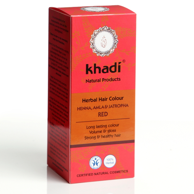 Khadi Vopsea De Par Naturala Rosu (henna  Amla Si Jatropha)