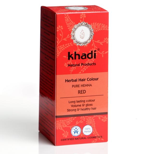 Khadi Henna Pura (rosu) - Vopsea De Par Naturala