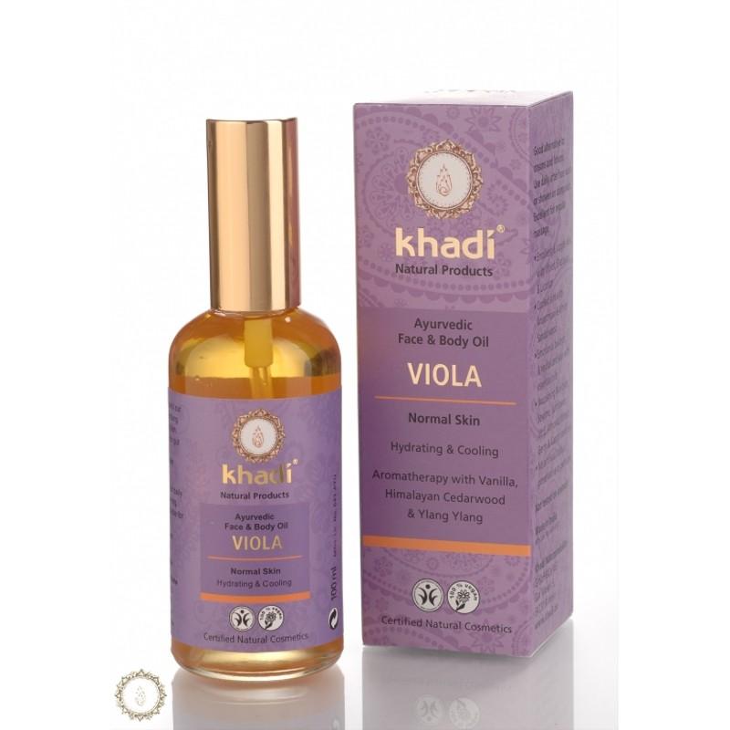 Khadi Ulei Cu Violete - Toate Tipurile De Piele (ten Si Corp)