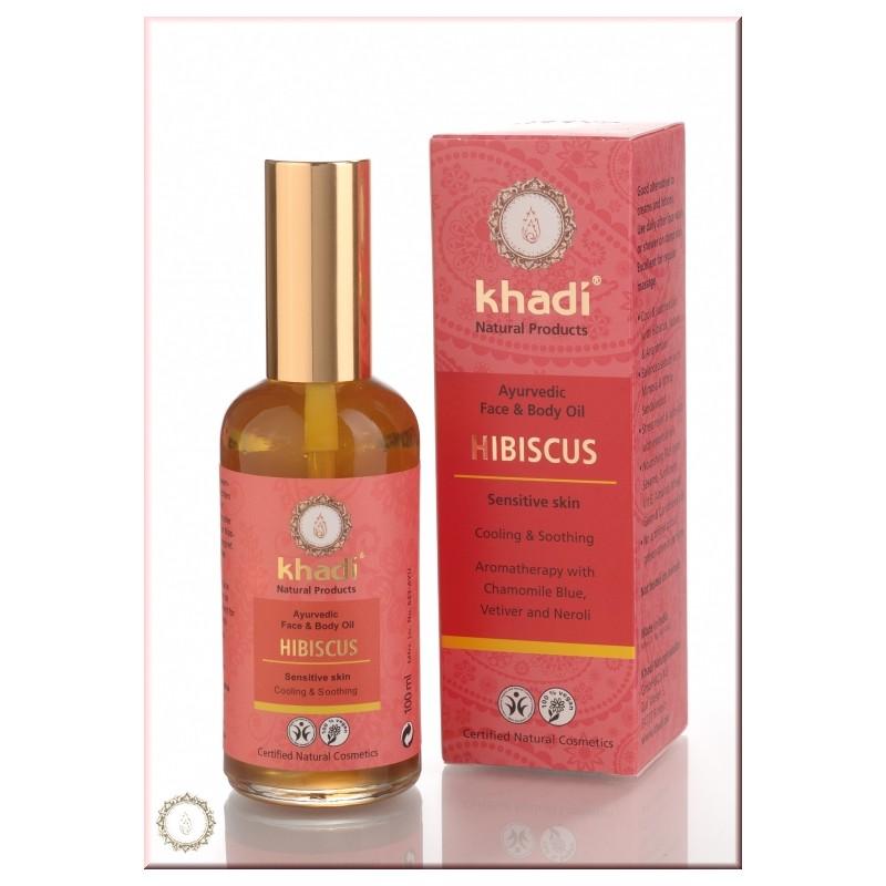 KHADI Ulei cu Hibiskus Khadi - pentru pielea sensibila (ten si corp)