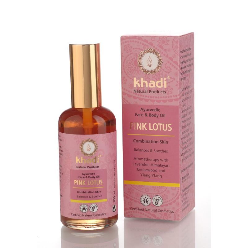 KHADI Ulei cu lotus roz - piele mixta si impura (ten si corp)