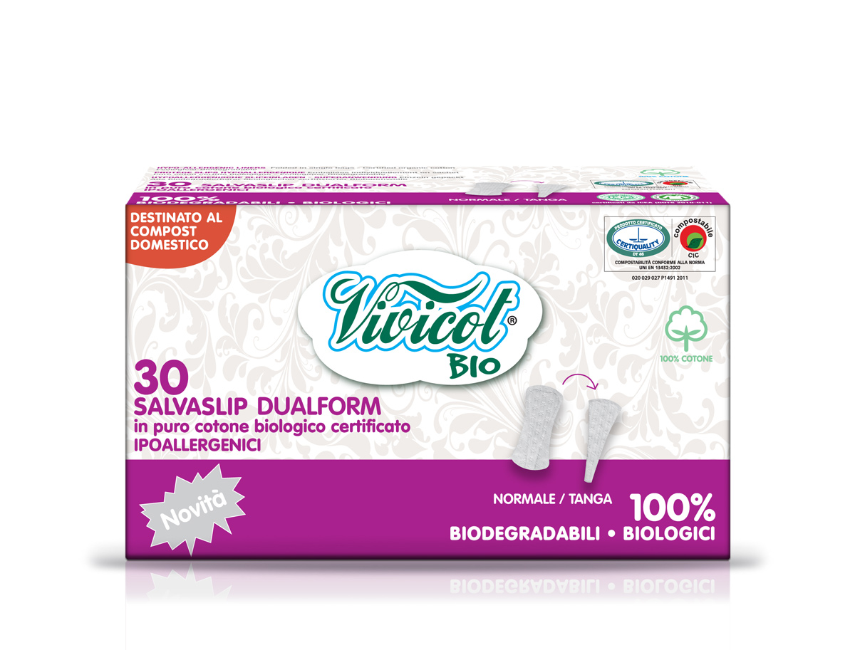 Bio Protej Slip Din Bumbac Organic Dual Form  30 Buc - Vivicot Bio