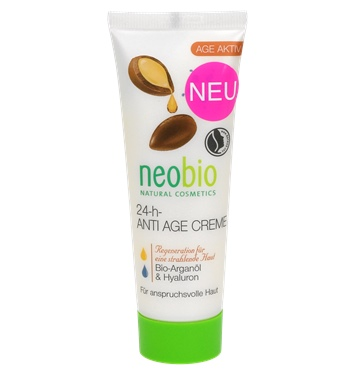 Neobio Crema Bio Regeneranta 24h Cu Ulei De Argan Si Acid Hialuronic