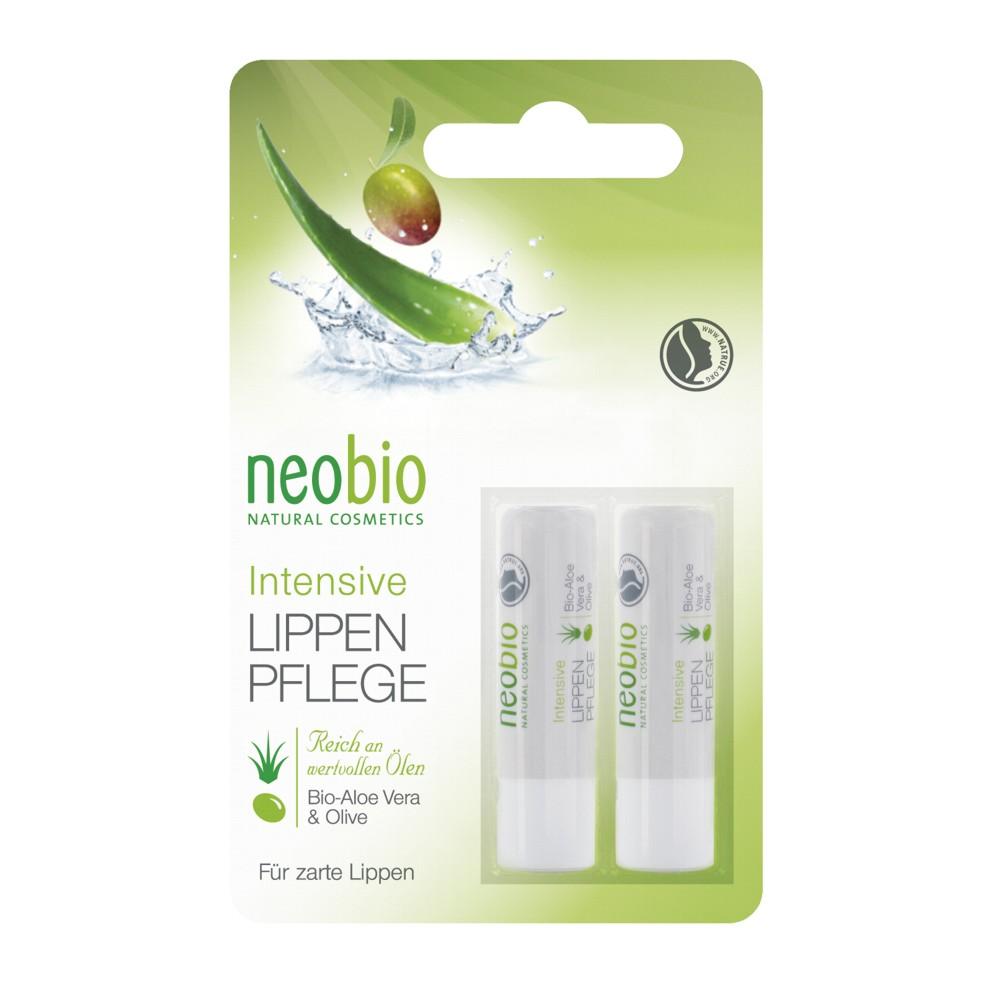 Neobio Balsam De Buze Bio Pentru Ingrijire Intensiva  Ulei De Masline  Aloe Vera