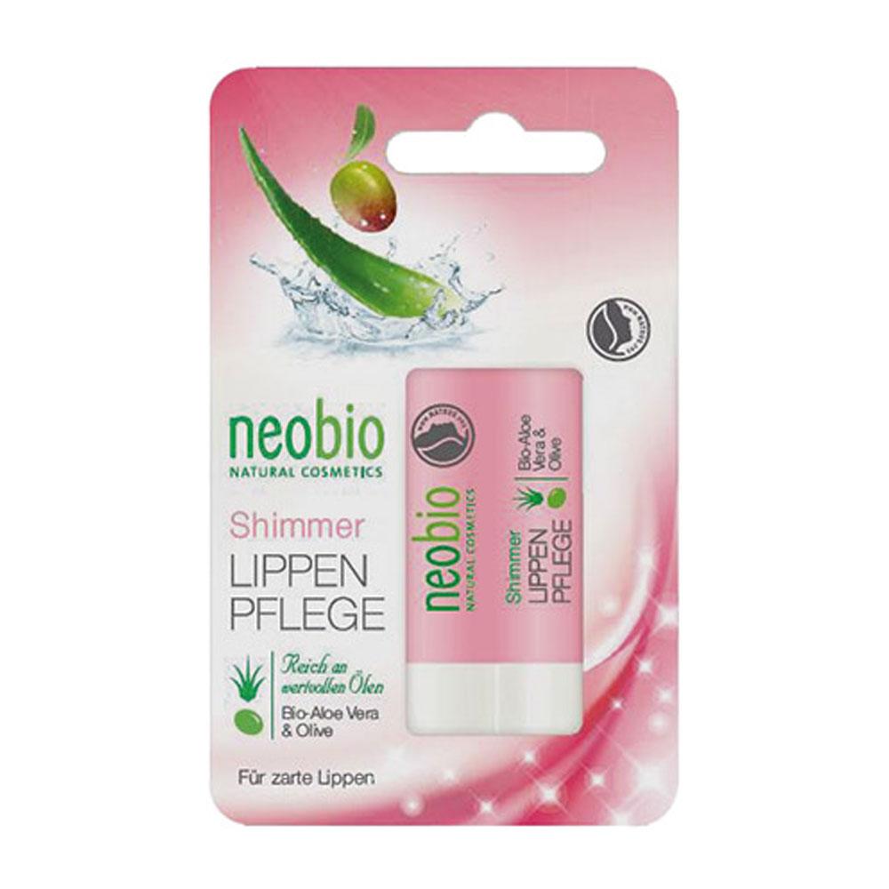 Neobio Shimmer Buze Bio Pentru Ingrijire Intensiva  Ulei De Masline  Aloe Vera