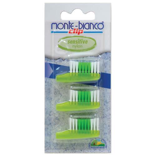 Set 3 Capete De Schimb Sensitive  Nylon verde Pentru Periuta Monte Bianco
