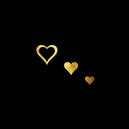 GoldSin Tattoos - 3 Fantasy Hearts AUR 24K
