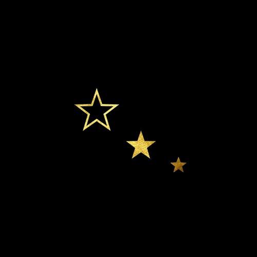 Goldsin Tattoos - 3 Fantasy Stars Aur 24k