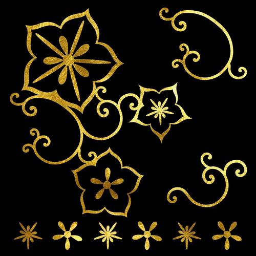 Goldsin Tattoos - Desert Rose Aur 24k