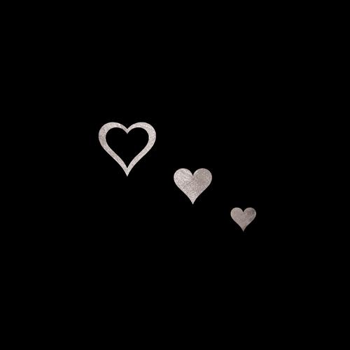 Goldsin Tattoos - 3 Fantasy Hearts Argint