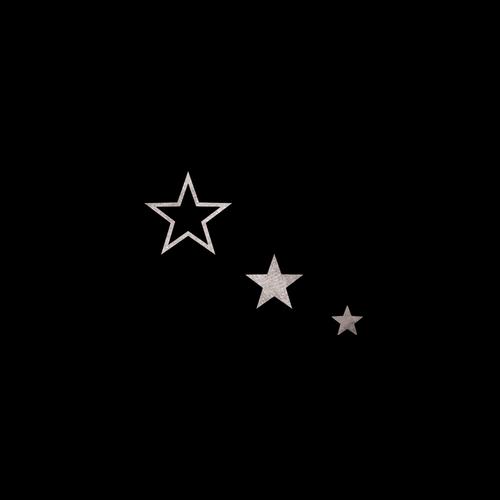 Goldsin Tattoos - 3 Fantasy Stars Argint