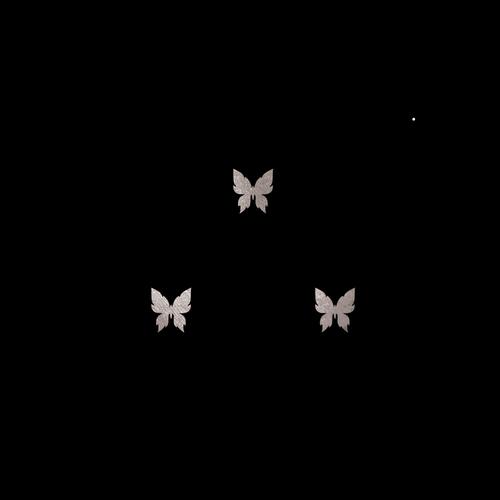 Goldsin Tattoos - 3 Little Butterflies Argint