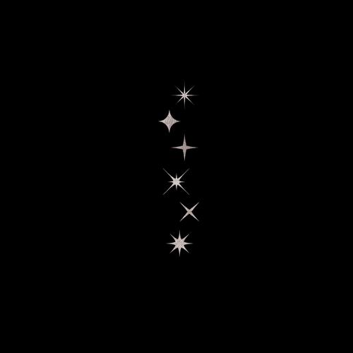 Goldsin Tattoos - Shining Night Stars Argint