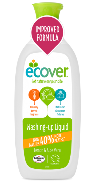 Ecover Detergent Lichid Pentru Vase Cu Lamaie Si Aloe Vera 1 L