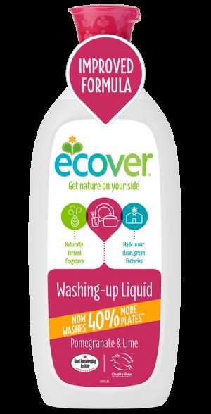 Ecover Detergent Lichid Pentru Vase Cu Rodie Si Lime 1 L