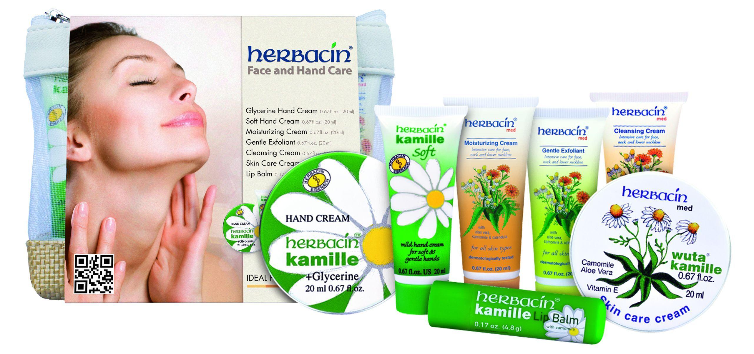 Herbacin Set Ingrijire Maini Fata Si Buze - 7 Produse