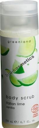 Greenland Exfoliant de corp Italian Lime - Vanilla certificat ECOCERT
