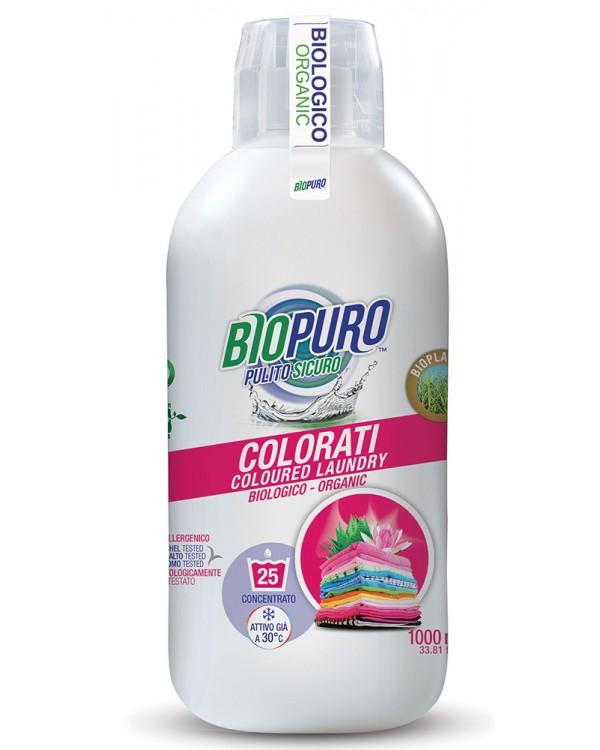 Biopuro Detergent Hipoalergen Rufe Colorate  Aloe Si Lotus  25 Spalari