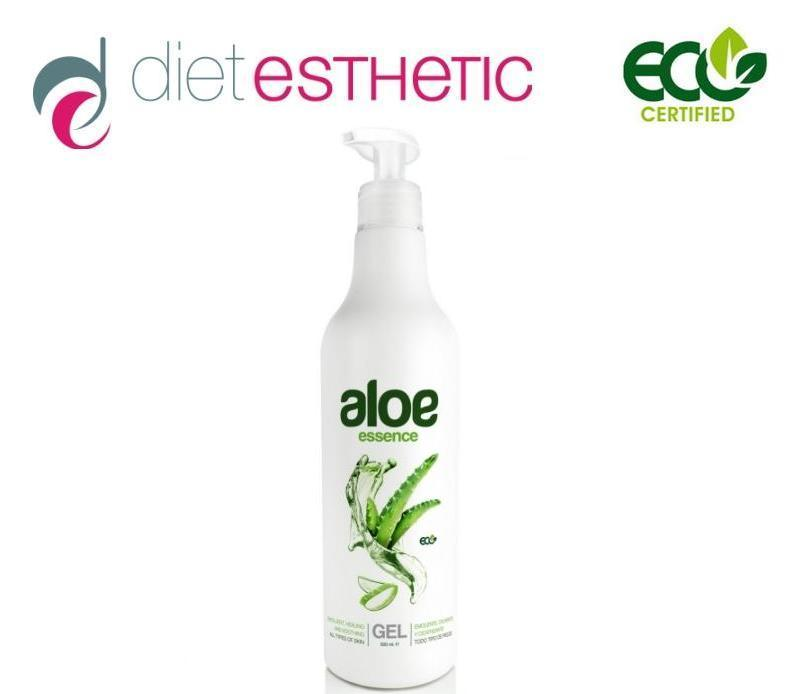Diet Esthetic Gel Aloe Vera- 100% Pur Ecocert, 500 ml