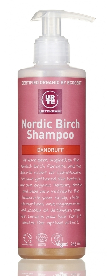 URTEKRAM - Sampon bio antimatreata, Nordic Birch, 245 ml