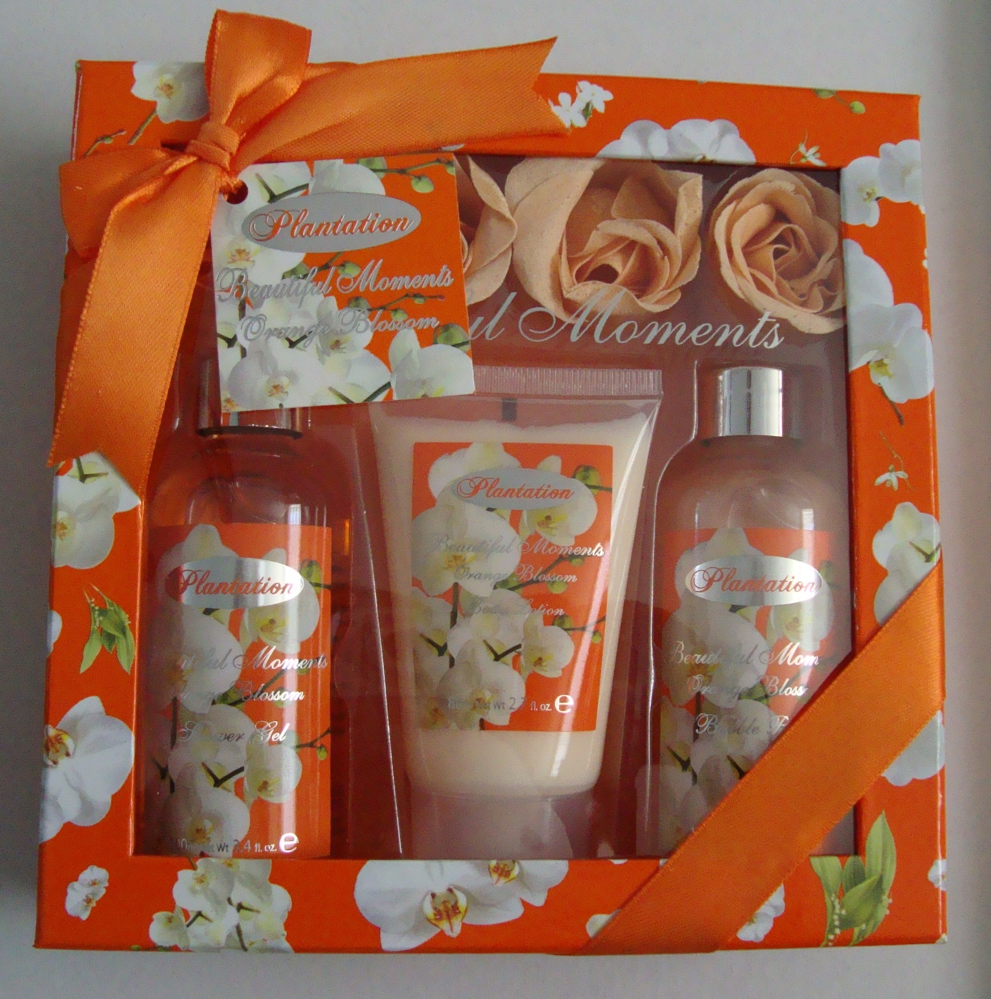 Village Set floral Orange
