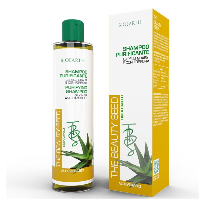 BIOEARTH Sampon antimatreata & par gras cu aloe si brusture