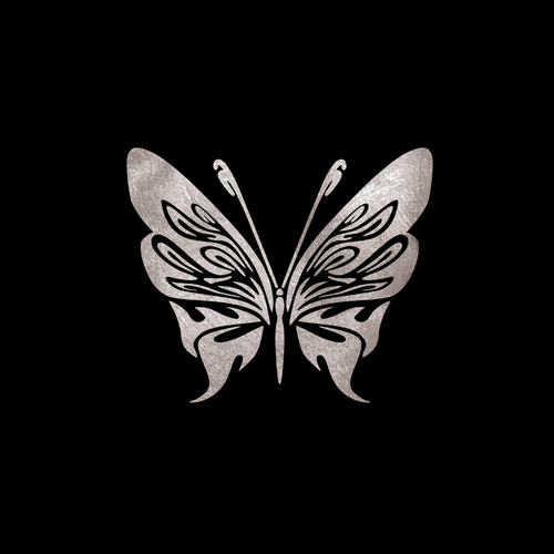 GoldSin Tattoos - Fairy Butterfly ARGINT