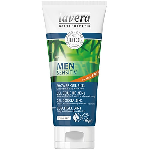 LAVERA 3 in 1 Sampon si gel de dus cu guarana MEN SENSITIV