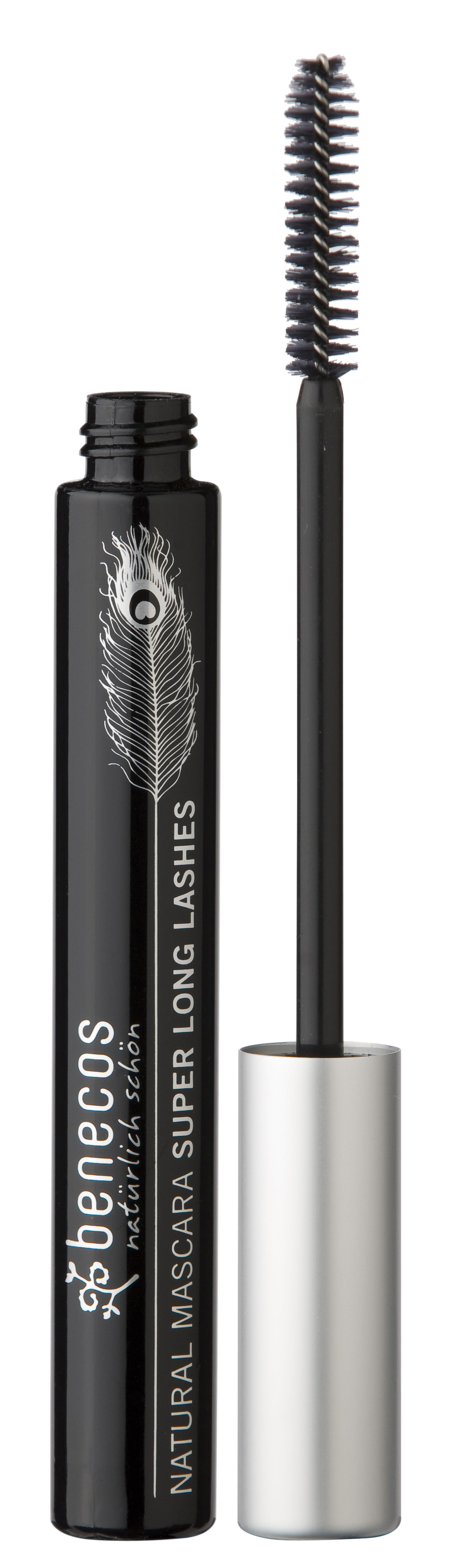 benecos Rimel SUPERLONG LASHES - natural mascara carbon black