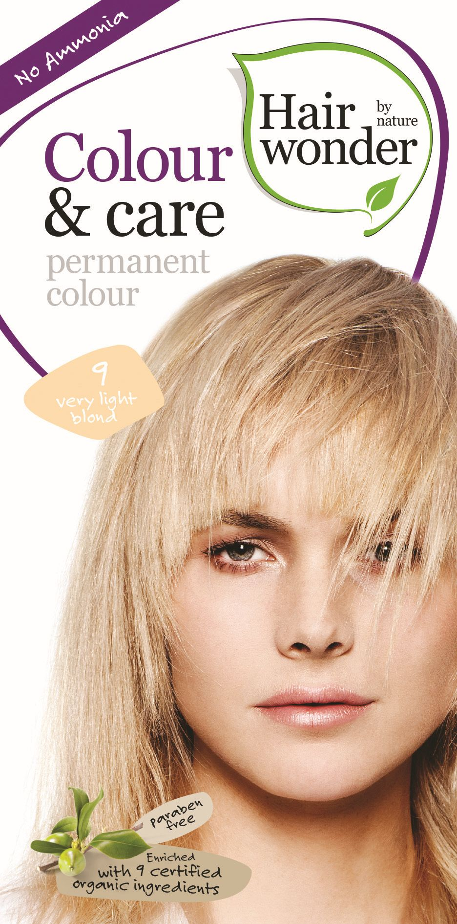 Hairwonder COLOUR & CARE VERY LIGHT BLOND 9