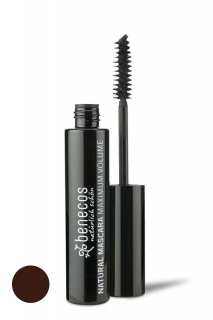 RIMEL benecos  - MAXIMUM VOLUME - smooth brown NATURAL MASCARA